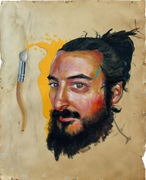 painting with a face